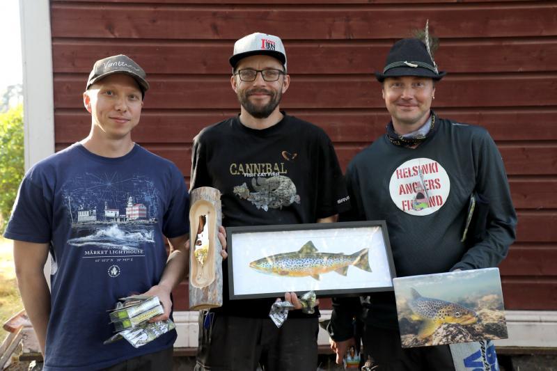 Lajikalastus SM voittajat, Juha Salonen, Roope Jansson, Timi Laitinen