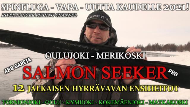 Abu Garcia Salmo Seeker 12´ hyrräkelavapa heittotestissä Oulujoki - Merikoski. #Hyrrävapa #spinfluga #matkakoski #oulujoki #tornionjoki #kymijoki #abugarcia #salmonseeker #salmoseeker #rodtest #riverranger #merikoski #kalastus