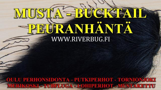 Musta Bucktail Peuranhäntä ja muut värit RiverBug Outletista! #perhonsidonta #leikarit #oulu #bucktail #putkiperhot #riverbug #peuranhännät #musta #tornionjoki #merikoski