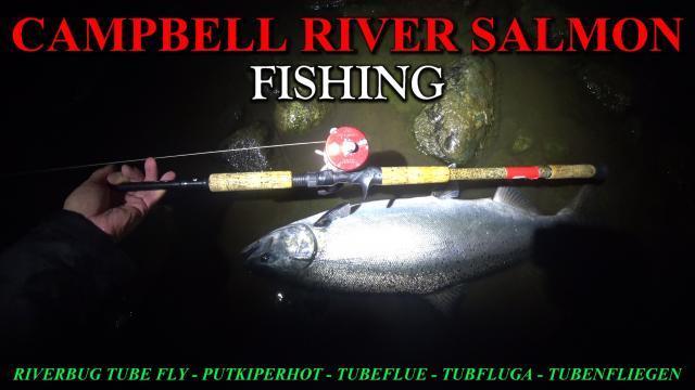 CAMPBELL RIVER SALMON FISHING with RiverBug tube fly / Spinfly method. #campbellriver #campbellrivesalmon #riverbug #salmon #putkiperhot #tornionjoki