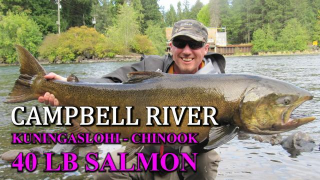 Campbell River Salmon fishing - RiverBug Tube Fly method