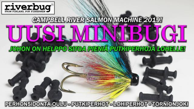 Campbell River Salmon Fishing - RiverBug holkkien testeissä Minibugi antoi eniten kuningaslohia! #campbellriver #campbellriversalmon #kuningaslohi #putkiperhot #riverbug #lohiperhot #oulu #ouluperhonsidonta #minibugi #tornionjoki #lohi