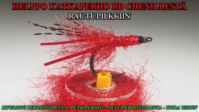 RiverBug chenille omanlaisiinsa katkaperhoihin :D #katkaperho #chenille #perhonsidonta #oulu #riverbug