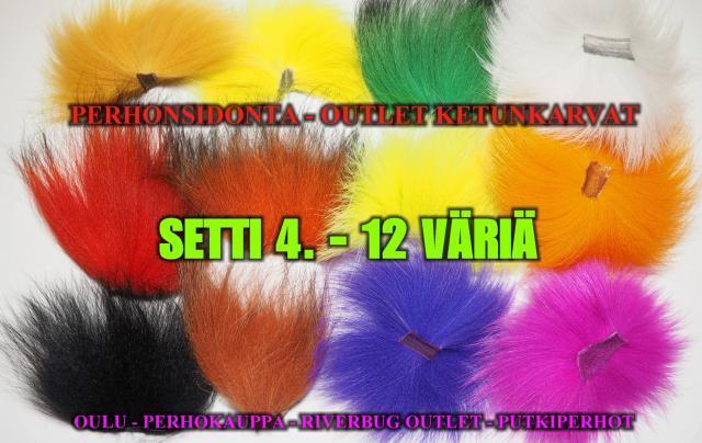 Ketunkarvat 12 väriä by RiverBug/Beggar. #perhonsidonta #riverbug #putkiperhot #oulu #kalastusvälineet #perhokauppa #veevus #ketunkarvat #kettu #bugiperhot #musta #valkoinen #oranssi #halpa #edullinen