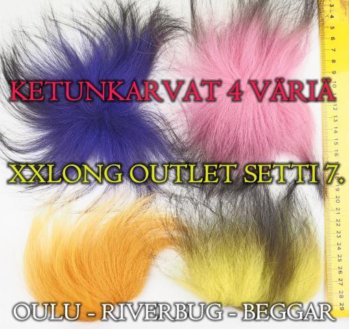 Pitkä Ketunkarva - Putkiperhot / Streamerit. #ketunkarva #kettu #riverbug #beggar #oulu #perhopesä #outlet #karvasetti #lajitelma