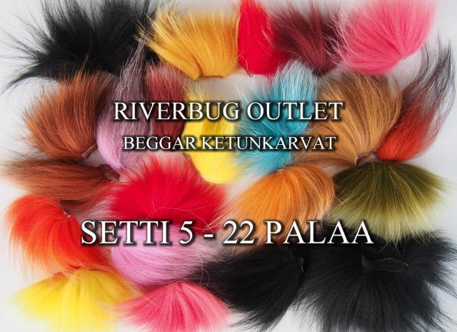 Ketunkarvat by Beggar / RiverBug - Outlet Setti 22 palaa