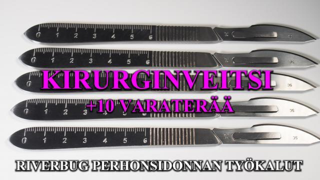 Kirurginveitsi - Skalppi by RiverBug Perhonsidonta - Perhokauppa