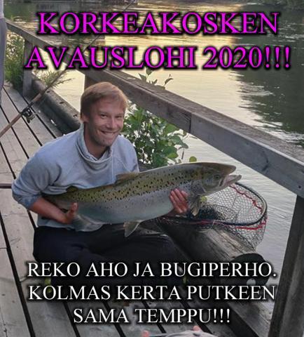 Korkeakosken avauslohi 2020. Tornionjoki putkiperhot ja kalastusvideot. #riverbug #putkiperhot #tornionjoki #maasaari #putkiperhot #lohi #lohenkalastus #tubfluga #tubefluer #lax #laxfiske #korpikylä #valmisperhot #oulu #perhonsidonta #korkeakoski #kymijoki #korkkari