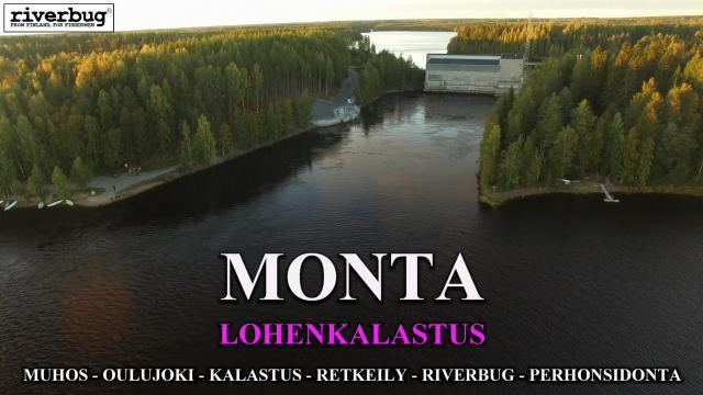 Monta Voimalaitos. Kalastusalue alkaa 170 metriä voimalan alapuolelta! #monta #muhos #oulujoki #kalastus #oulunkalapaikat #merikoskikalastus #lohenkalastus