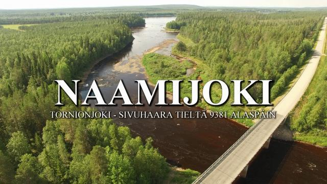 Tornionjoki - Naamijoki alajuoksu ilmakuvaa