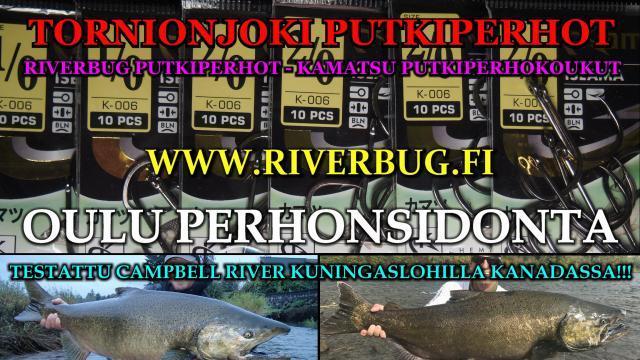 Putkiperhokoukku Oulu - Kamatsu Iseama. #putkiperhot #oulu #koukut #riverbug #kamatsu #lohiperhot #putkiperhokoukku #campbellriver #kuningaslohi