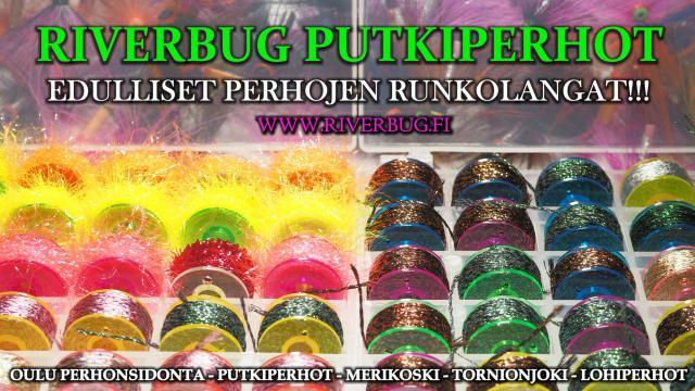 Edulliset RiverBug Perhon Runkolangat Outletista! #tornionjoki #putkiperhot #perhonsidonta #oulu #putkiperhot #chenille #runkolangat #riverbug