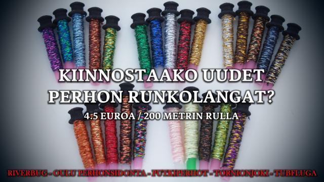 Perhon Runkolankaa 200 metrin rullissa by RiverBug. #putkiperhot #perhonsidonta #runkolanka #ouluperhonsidonta #tornionjoki #riverbug