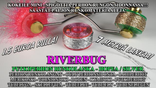 Putkiperhon Runkolangat RiverBug Outletista! #runkolangat #langat #oulu #perhonsidonta #silikoniletkut #riverbug