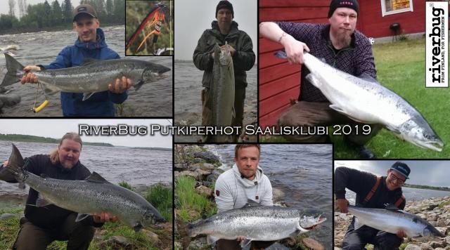 Putkiperhot ja Saamamiehiä Matkakoskelta - RiverBug saalisklubi 2019