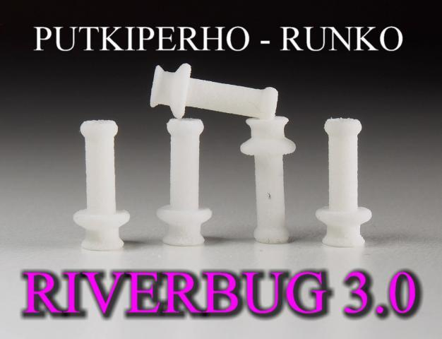 Putkiperhot by RiverBug tube fly method - RiverBug 3.0 valkoinen