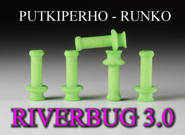 Putkiperhot by RiverBug tube fly method - RiverBug 3.0 lime green