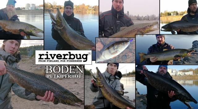 RiverBug Putkiperhot Boden kalastuksessa - Tubfluga Boden