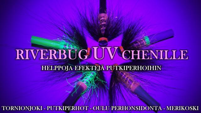 Tornionjoki Putkiperhot - UV chenille by RiverBug. #tornionjoki #putkiperhot #perhonsidonta #riverbug #oulu #chenille #halpa #edullinen #perhokauppa