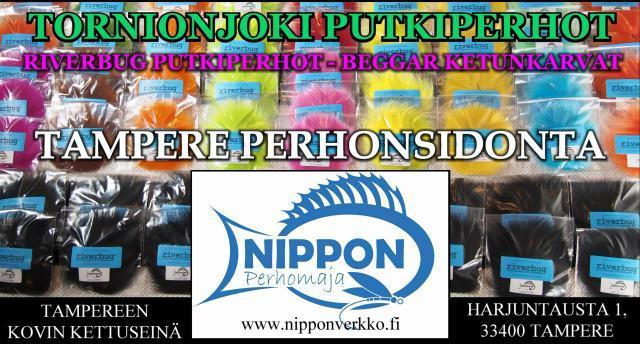 Ketunkarvat Tampere - Nippon Verkko - Nippon Perhomaja. #nipponverkko #tampere #ketunkarvat #mustakettu #perhonsidonta #riverbug #beggar #putkiperhot #tubeflue #spinfluga #supinkarvat #tornionjoki #matkakoski