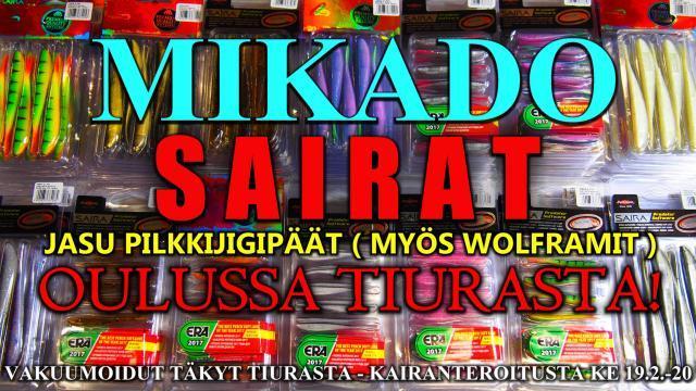 Mikado Saira Jigit ja Jasu Jigipäät Tiura Uistimesta! #mikado #saira #jasu #jigit #pilkkijigi #pilkintä #oulu #kalastusvälineet #kalastus #tiura #tiurauistin