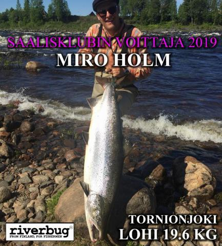 Tornionjoki antoi voittokalan RiverBug Saalisklubissa 2019. #putkiperhot #riverbug #tornionjoki